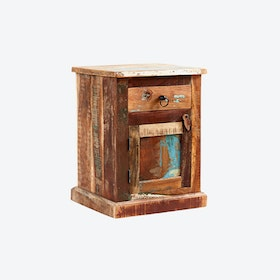 Reclaimed Wood Bedside Table