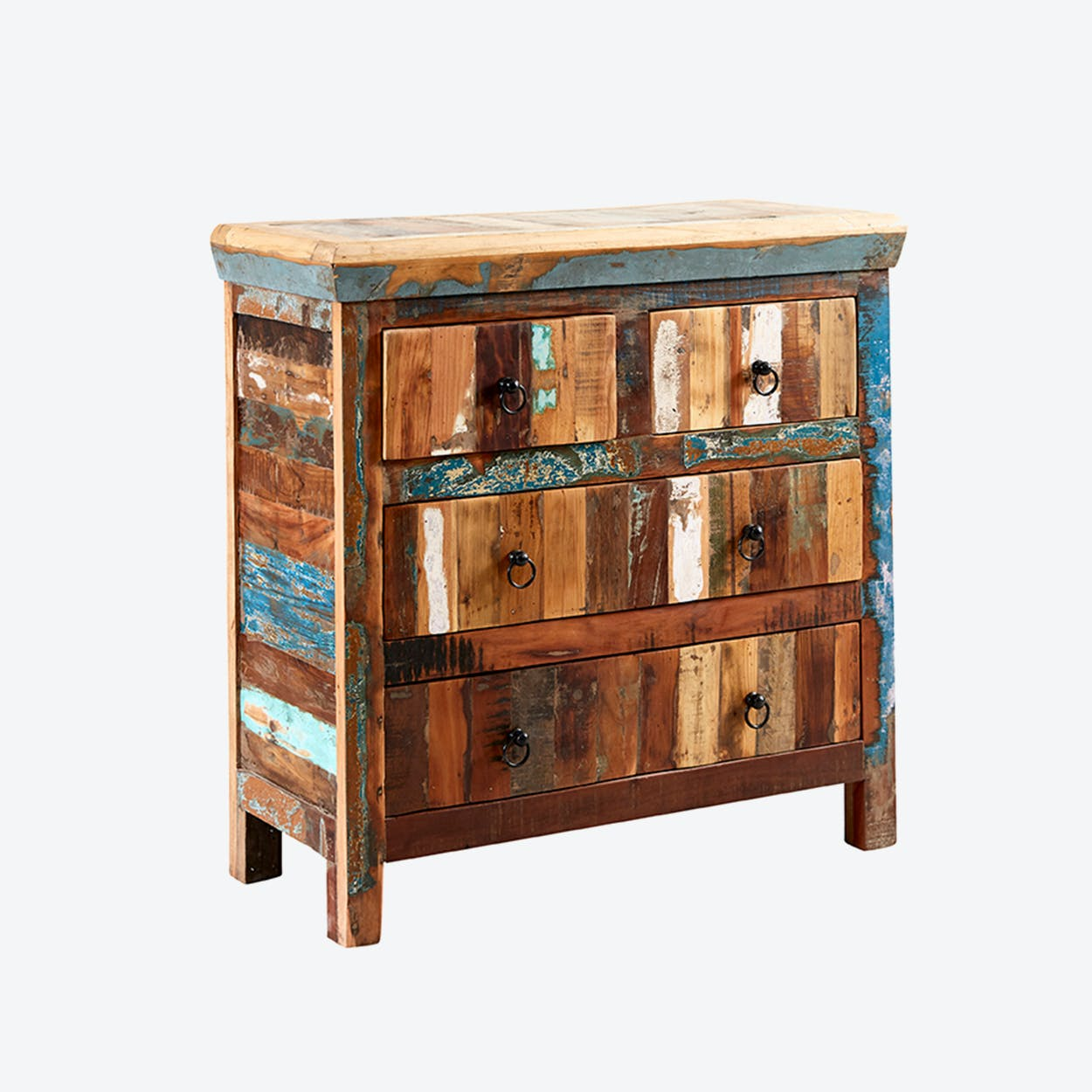 Reclaimed Wood 4 Drawer Chest