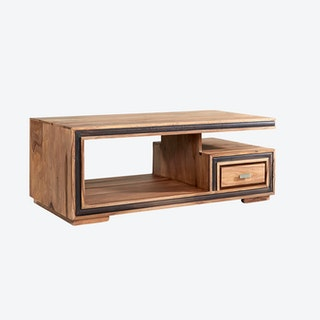 JODHPUR Sheesham Coffee Table w/ Drawer