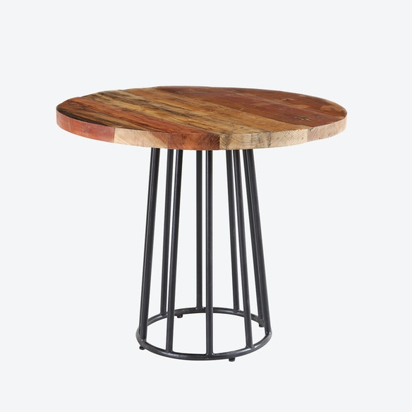 Reclaimed Wood Round Dining Table By Indian Hub Fy