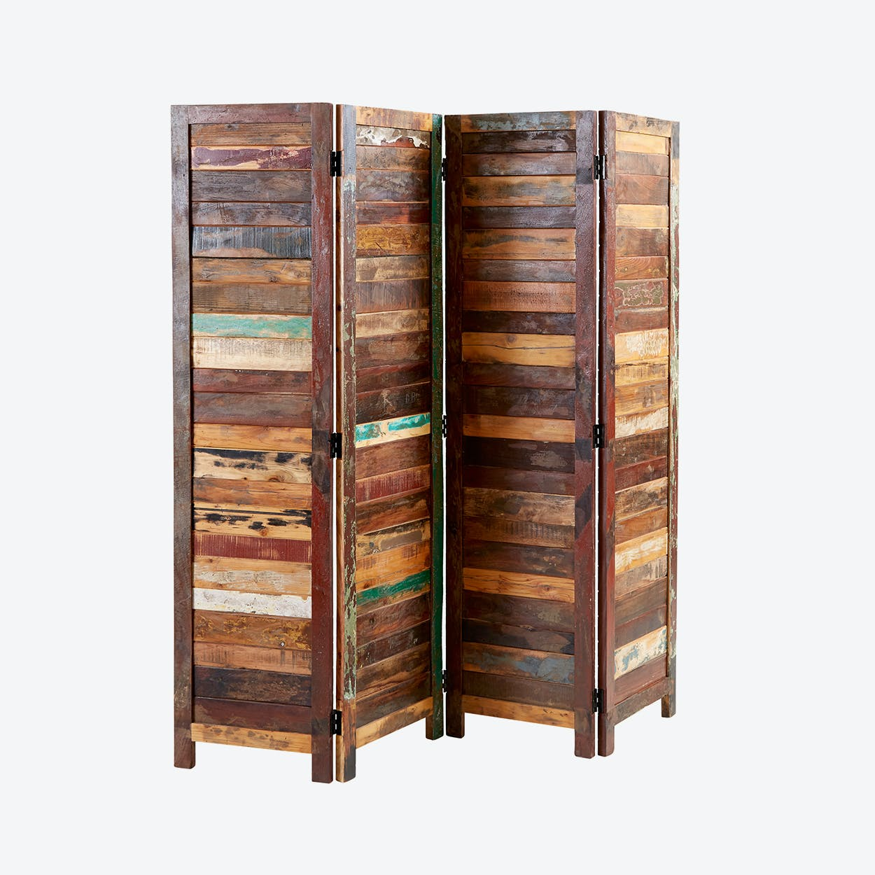 Reclaimed Wood Partition Screen By Indian Hub