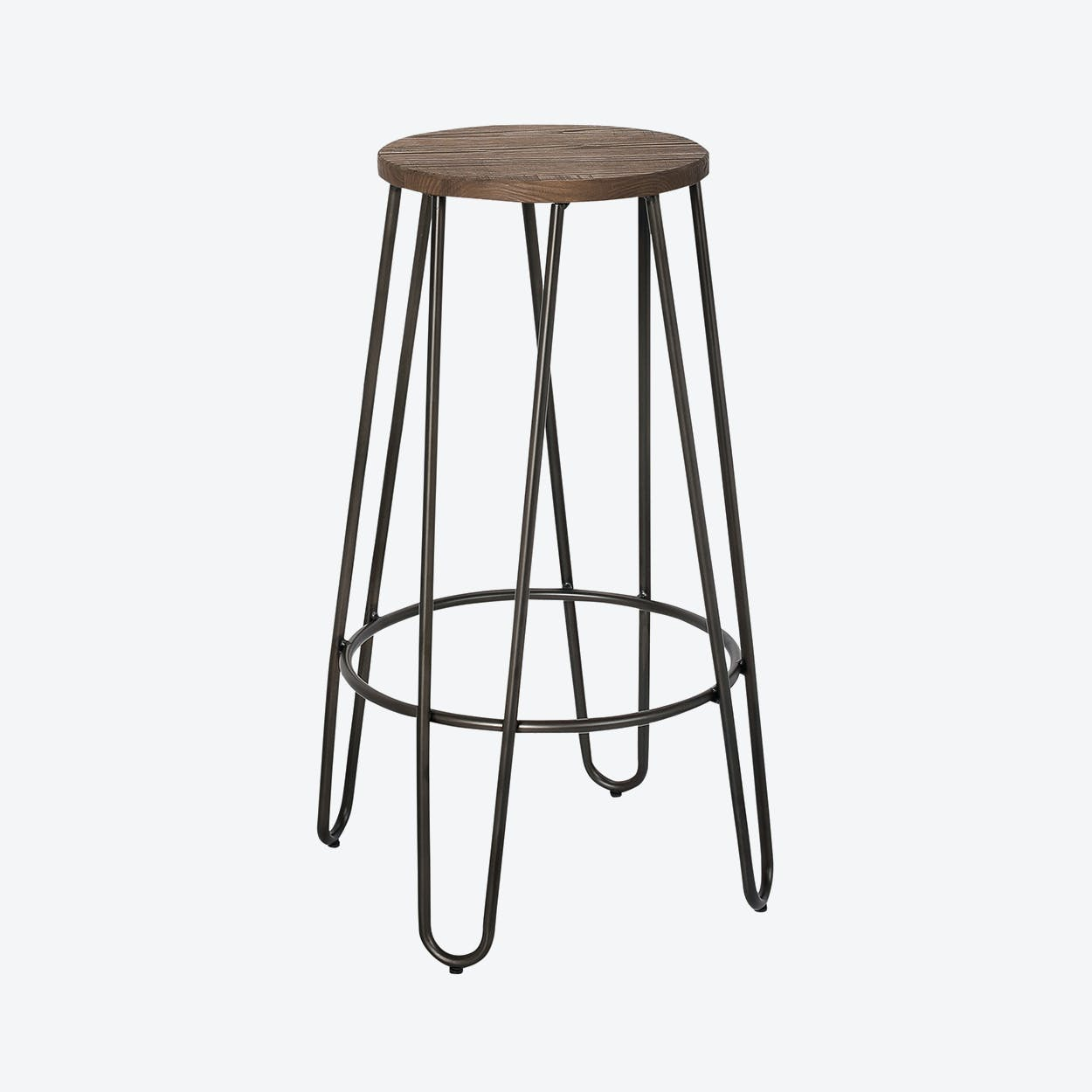 Mango Wood Round Bar Stool