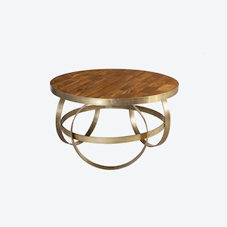 Round Coffee Table w/ 3 Rings