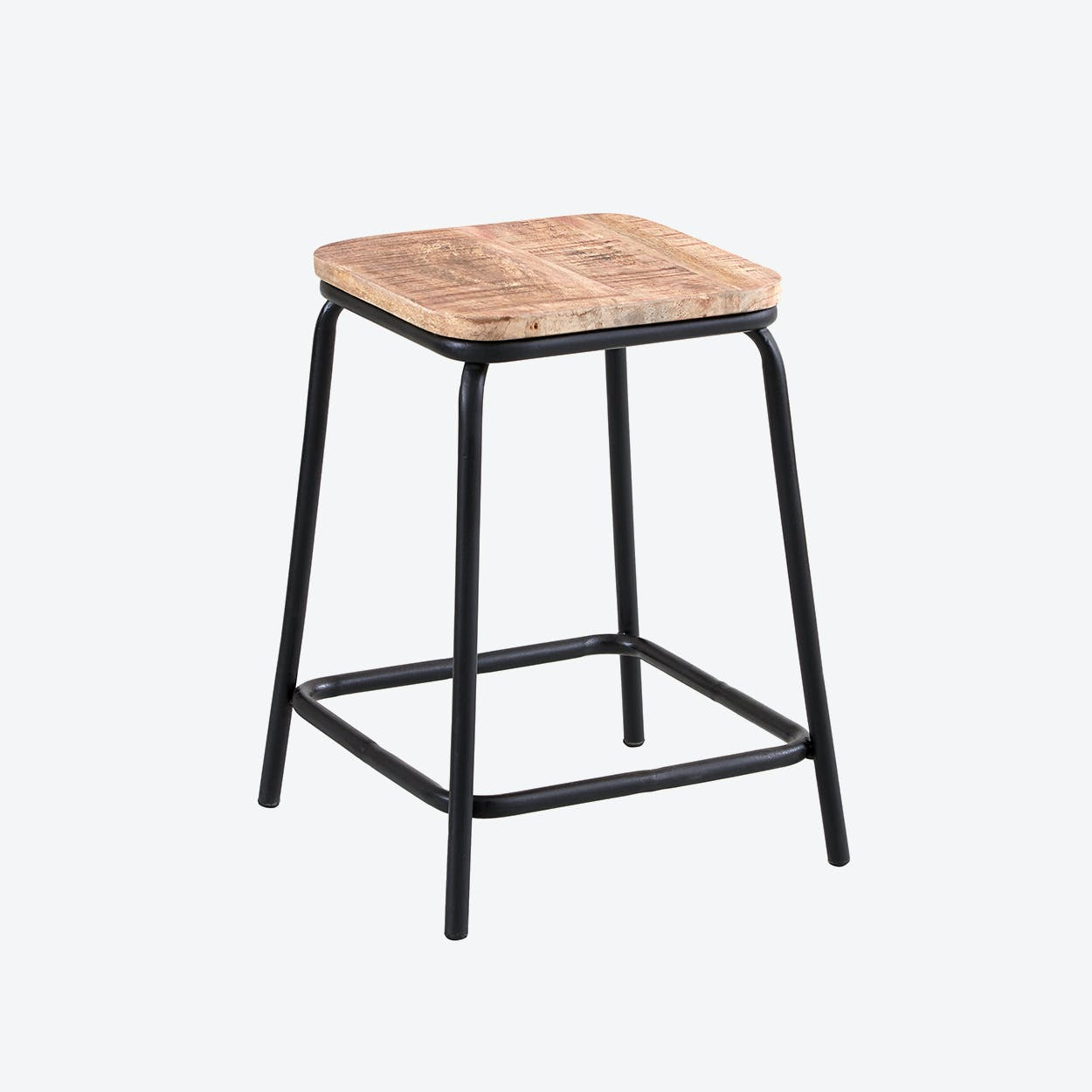 Mango Wood Bar Stool Short