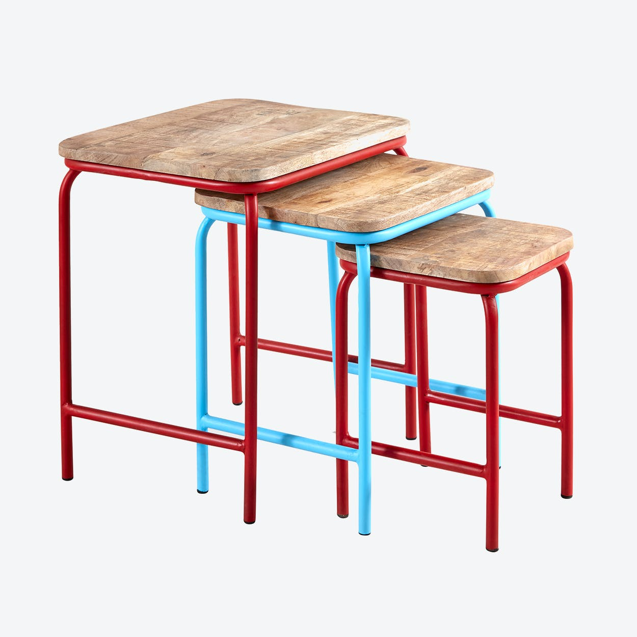 Mango Wood Nest of 3 Tables