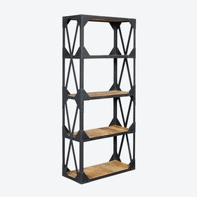 Reclaimed Wood Large Bookcase
