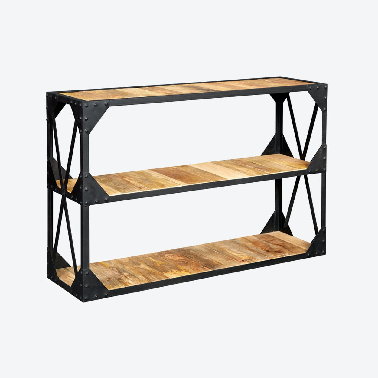 Reclaimed Wood Console Table Tv Stand Low Bookcase