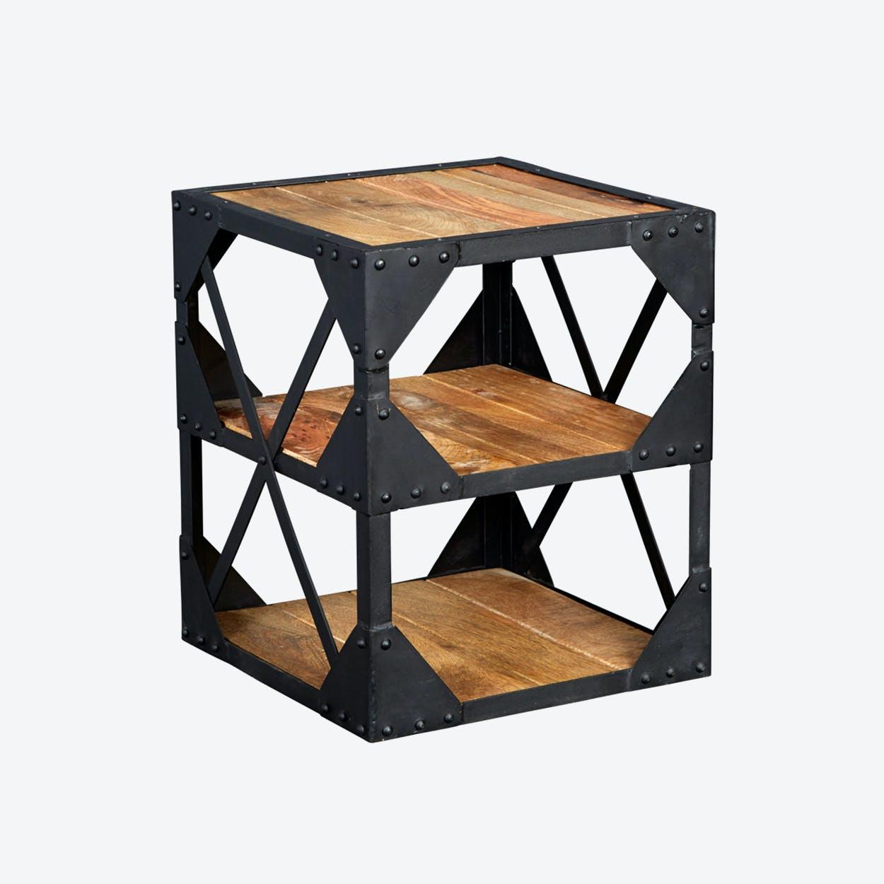 Reclaimed Wood Side Table /Multimedia Cabinet