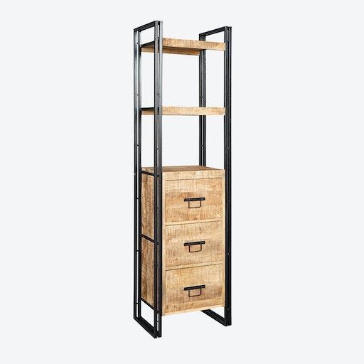 Mango Wood Slim Bookcase