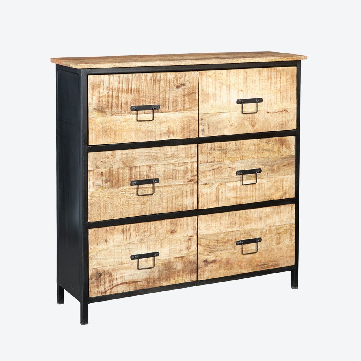 Mango Wood 6 Drawer Chest