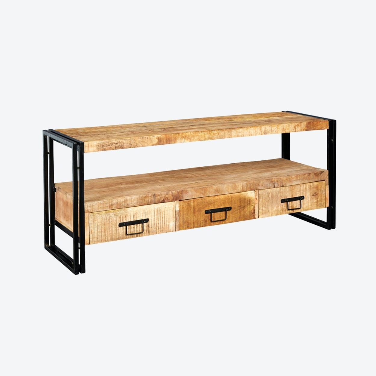 Mango Wood Large Plasma Stand