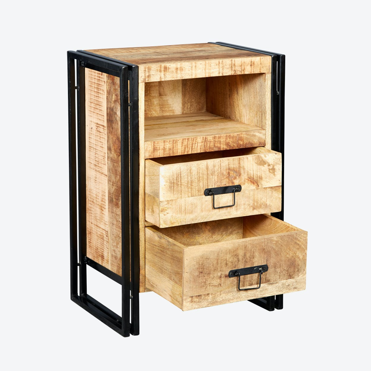 Mango Wood 2 Drawer Side Table /Chest