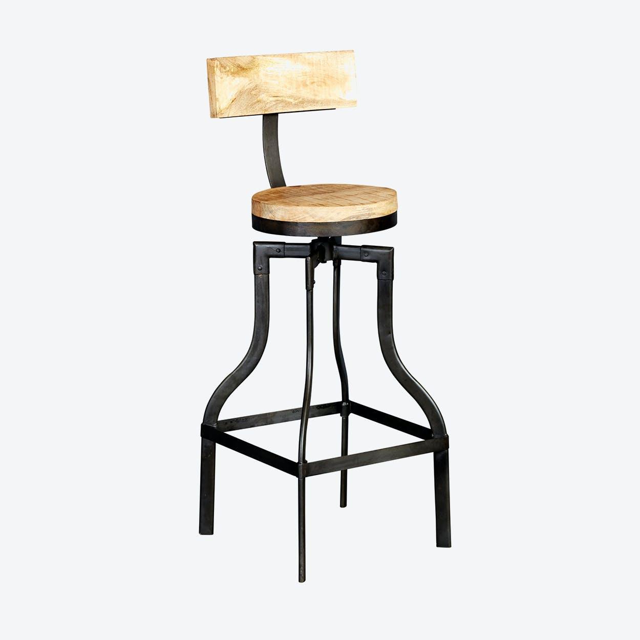 Mango Wood Cosmo Bar Stool