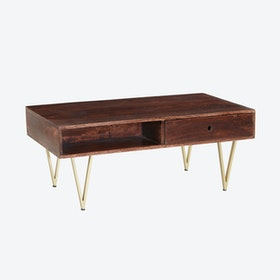 Wooden Rectangular Coffee Table