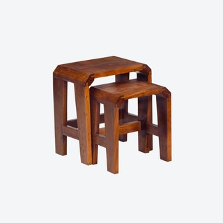 Wooden Montague 2 Piece Nest of Tables