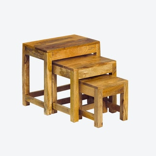 Wooden Madisson 3 Piece Nest of Tables