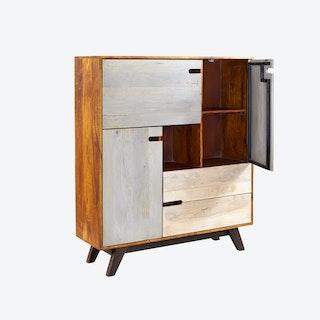Mango Wood Display Unit/Closed Bookcase