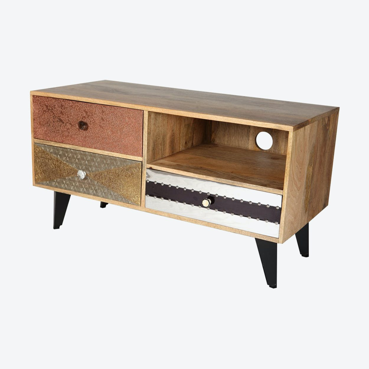 Reclaimed Wood Small Media Unit