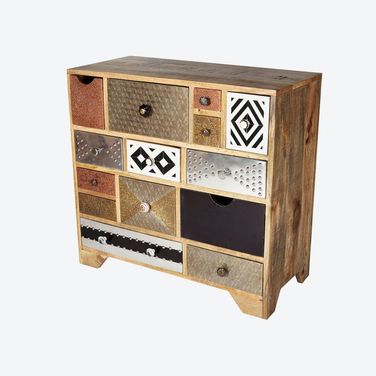 Reclaimed Wood 10 Drawer Chest