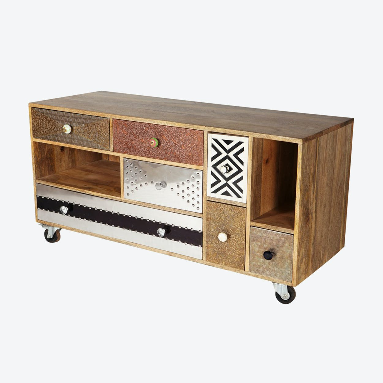 Reclaimed Wood Large Tv Credenza