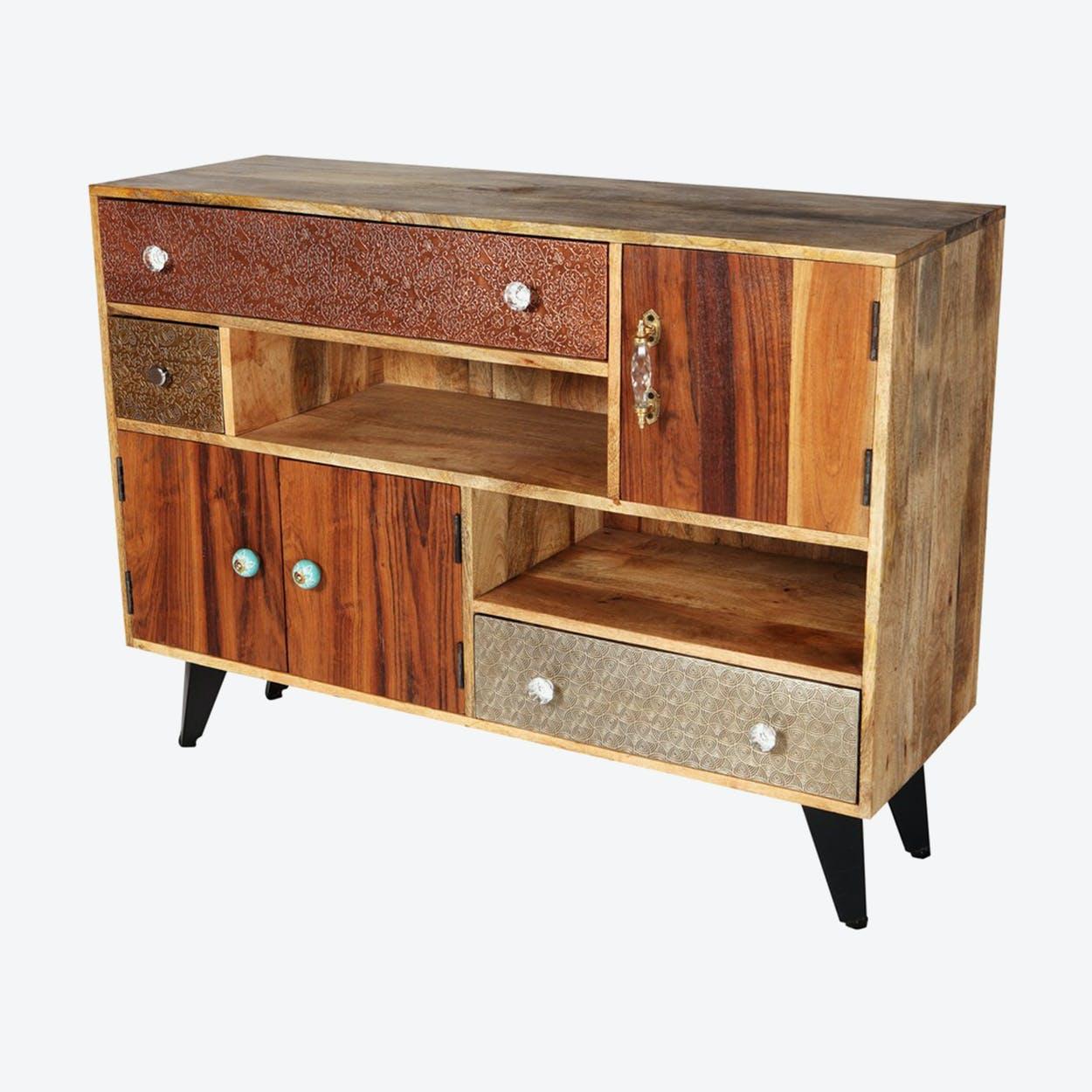 Reclaimed Wood Large Sideboard 1