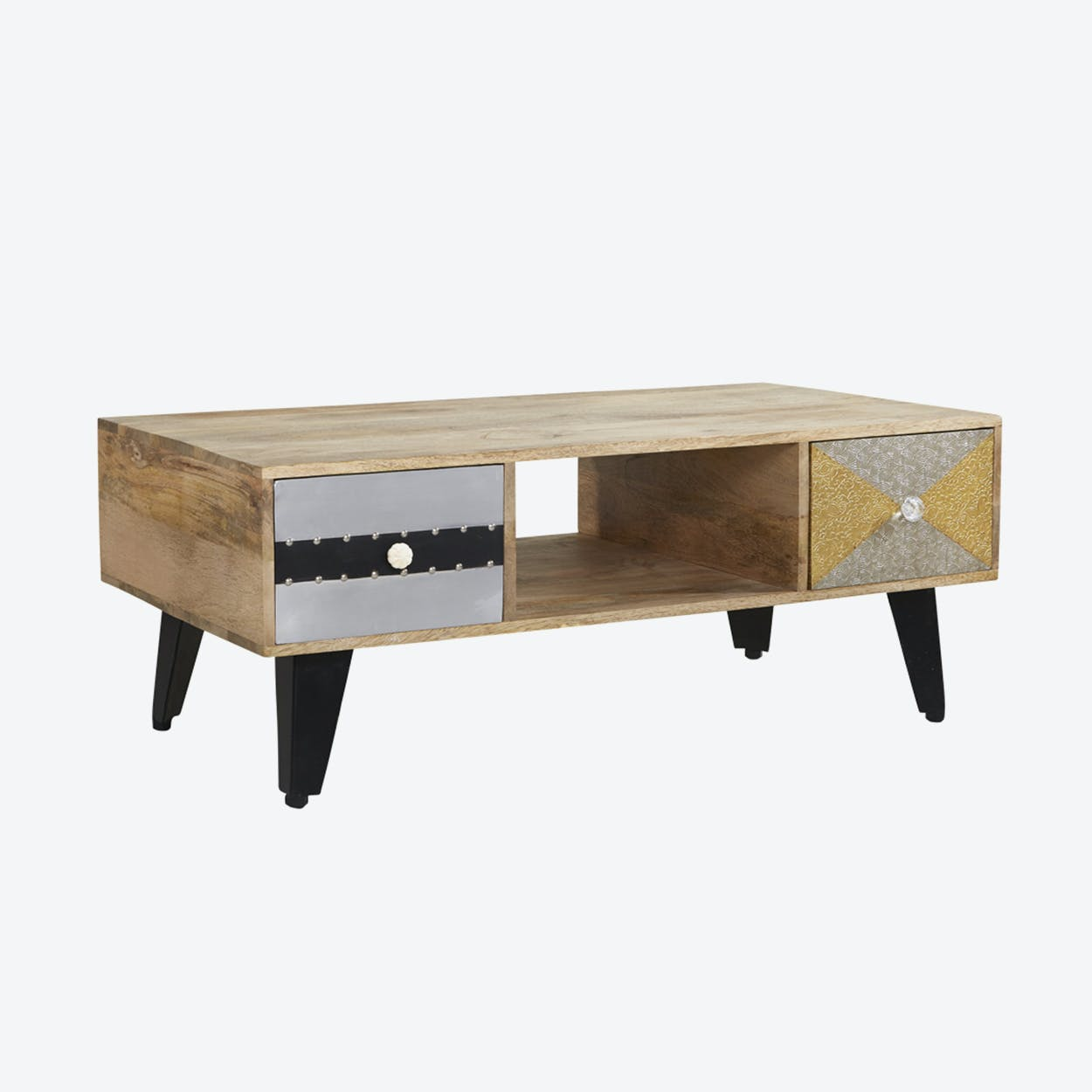 Reclaimed Wood 2 Drawer Coffee Table
