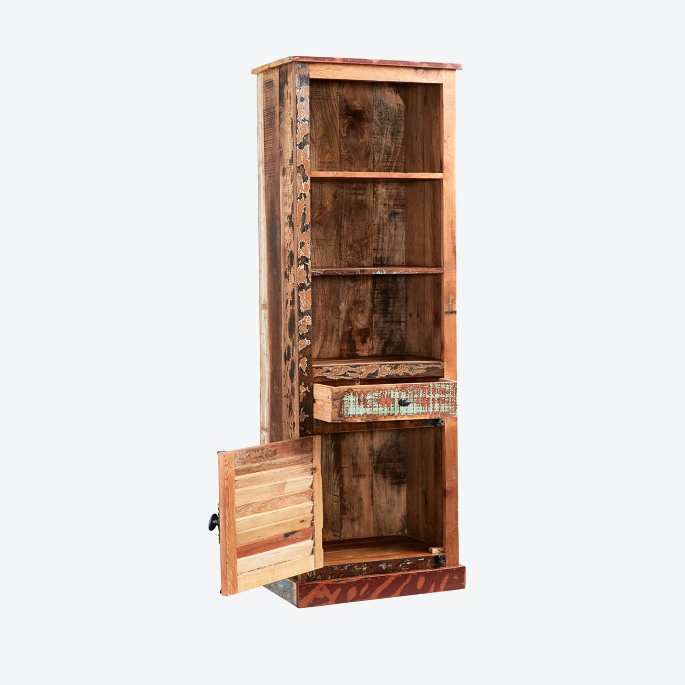 Narrow Reclaimed Wood Bookcase