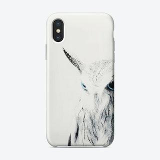Owl II BW iPhone Case