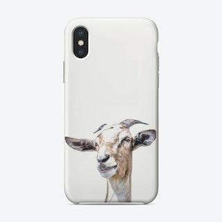 White goat iPhone Case