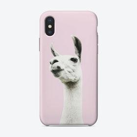 Pink Llama iPhone Case
