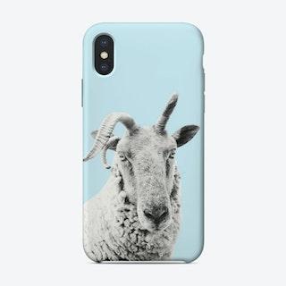 Blue Sheep iPhone Case