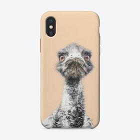 Orange Emu iPhone Case