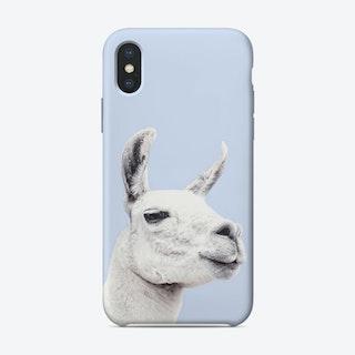 Blue Llama II iPhone Case