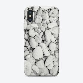 White Pebbles iPhone Case