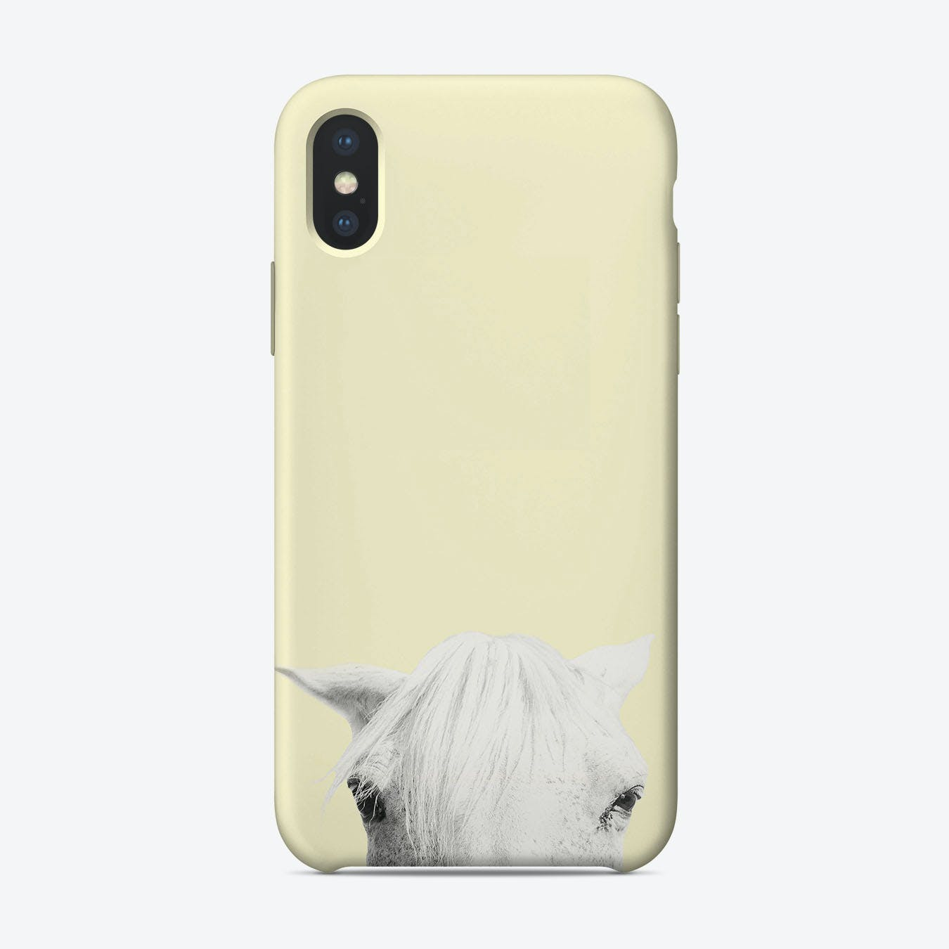 Yellow horse iPhone Case
