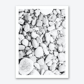 White Pebbles Art Print