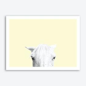 Yellow Horse Art Print