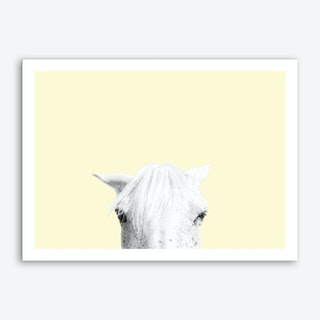 Yellow Horse Art Print