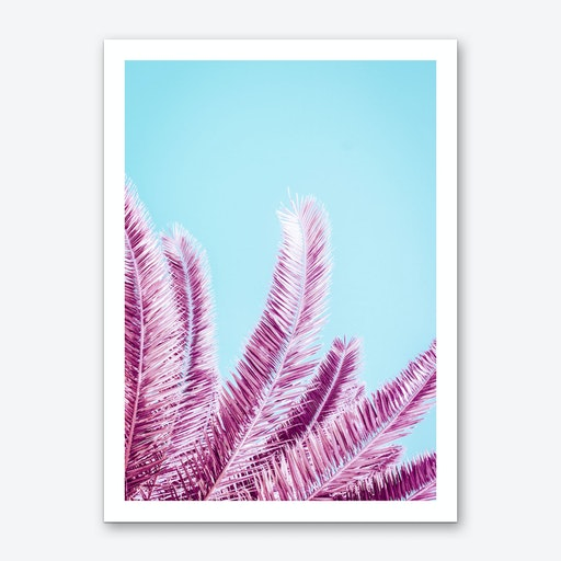 Pink Palm Trees Art Print