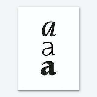 aaa Art Print