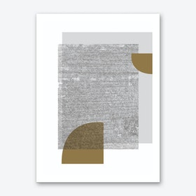 Grey & Gold Art Print