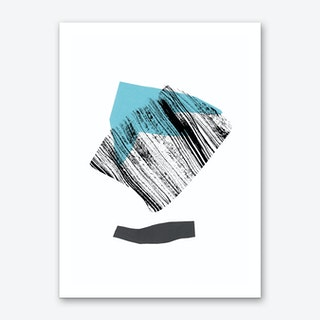 Blue and Ink Art Print