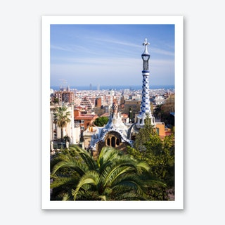Barcelona View from Park Guell Art Print