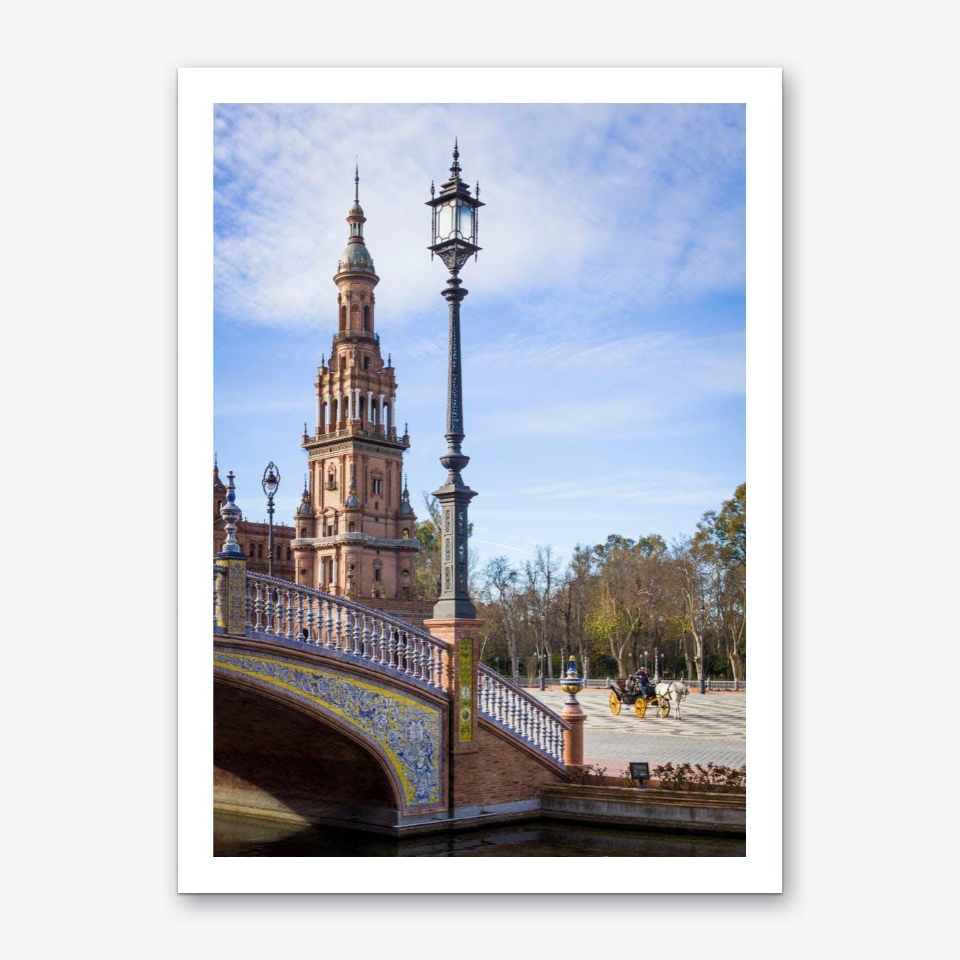 Plaza de España and Carriage Art Print
