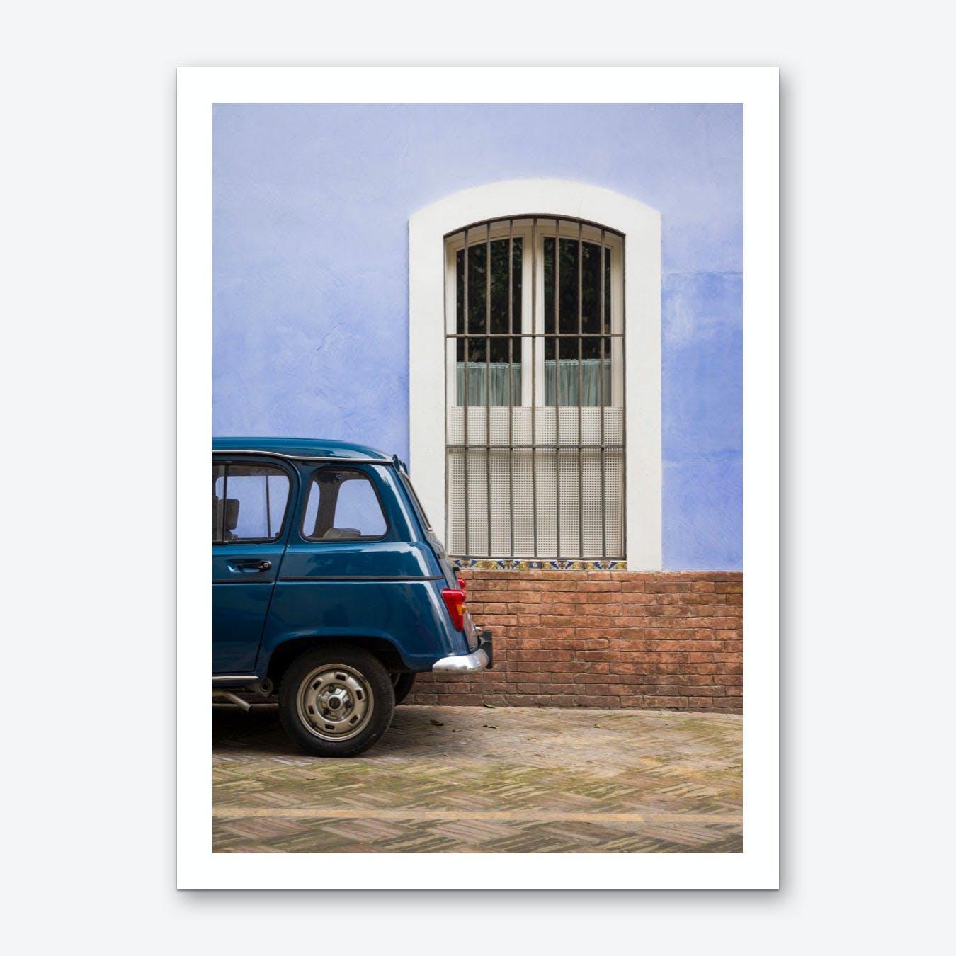 Renault Azul Art Print