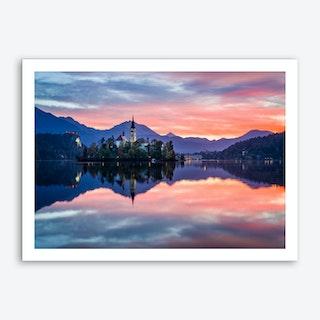 Lake Bled Art Print