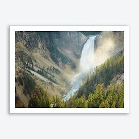 Upper Falls-Yellowstone River Art Print
