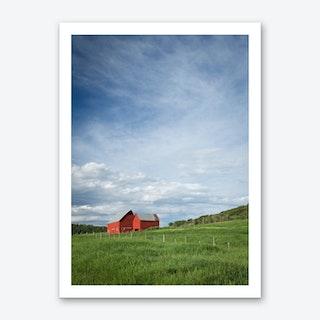 Red Barns Art Print