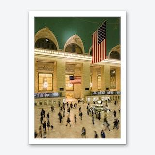 Grand Central Rush Art Print