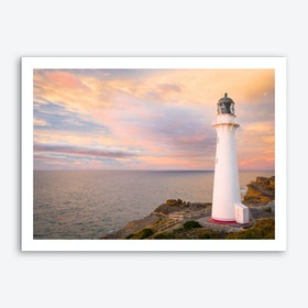 Castlepoint Lighthouse Art Print